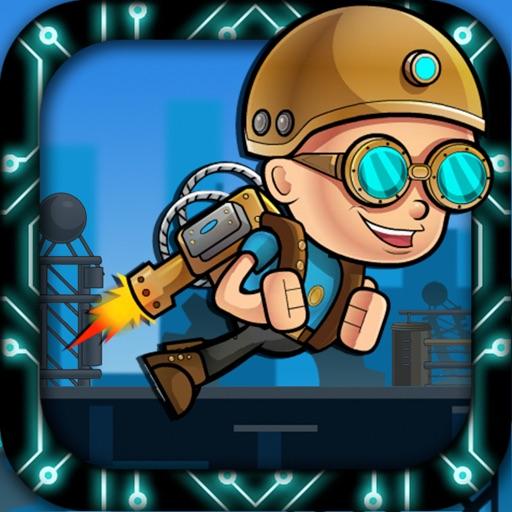 Jet-pack Hero Kid Space Station War