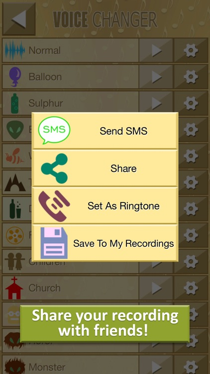 Gold Voice Changer Prank - Make Fun Recordings & Transform your Speech with Funny Effects screenshot-3