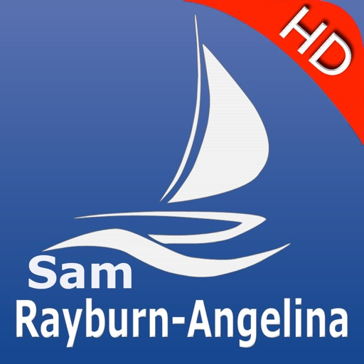 Sam Rayburn Reservoir and Angelina National Forest HD GPS Nautical charts