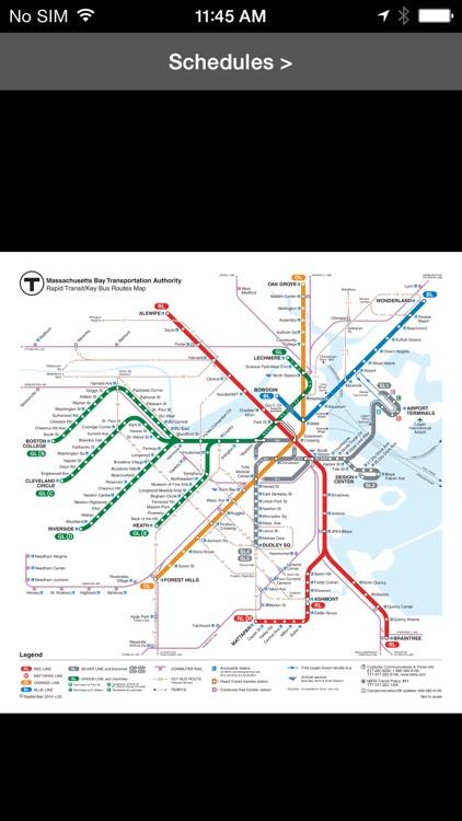 MBTA Boston T Map -- Ad Free screenshot-3