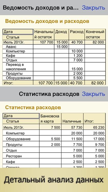 Личные Финансы ПРО - Семейный Бюджет, Домашняя Бухгалтерия и Анализ Финансов, Копилка Денег и Деньги РУ screenshot-3
