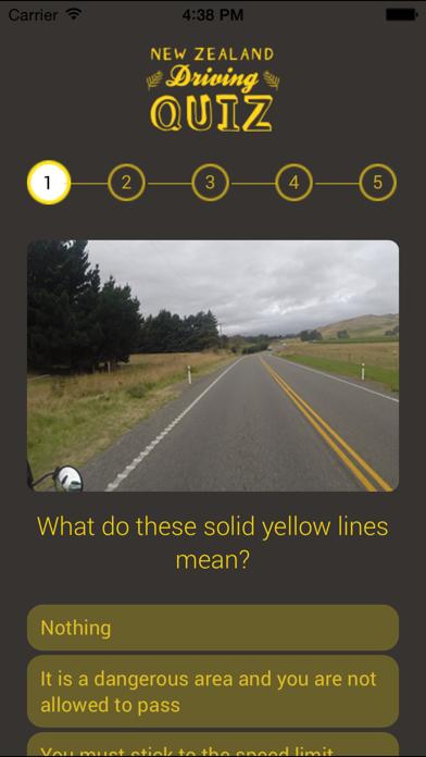 NZ Driving Quiz screenshot two
