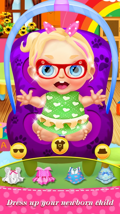 My Baby Care™ Newborn Babies: Nursing & Dress Salon Kids Game screenshot-4