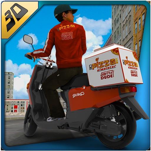 3D симулятор пиццы - с ума мотоцикл мотоциклист и доставка Байкеры, верхом моделирования приключенческая игра