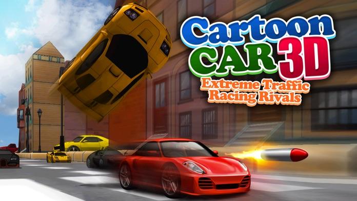 Cartoon Car 3D Real Extreme Traffic Racing Rivals Simulator Game Screenshot