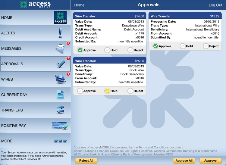 accessMOBILE for iPad by Citizens Commercial Bank screenshot-3