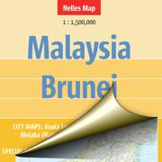 Малайзия, Бруней. Туристическая карта.