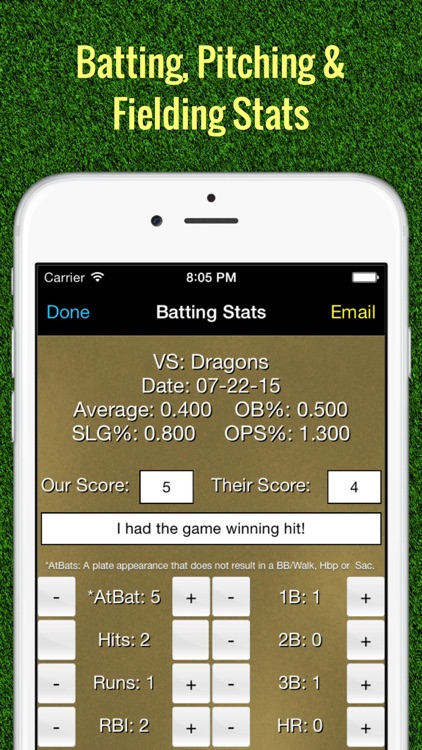 Softball Stats Tracker Fastpitch screenshot-0