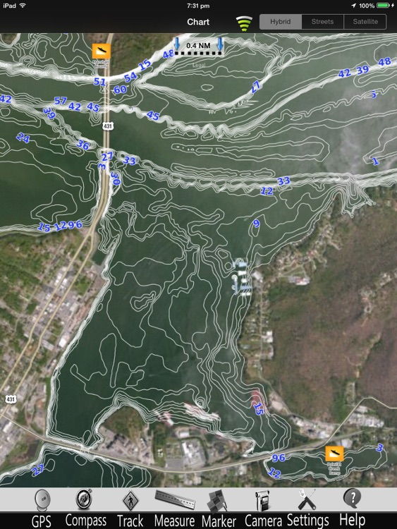 Guntersville Lake Charts Pro screenshot-0