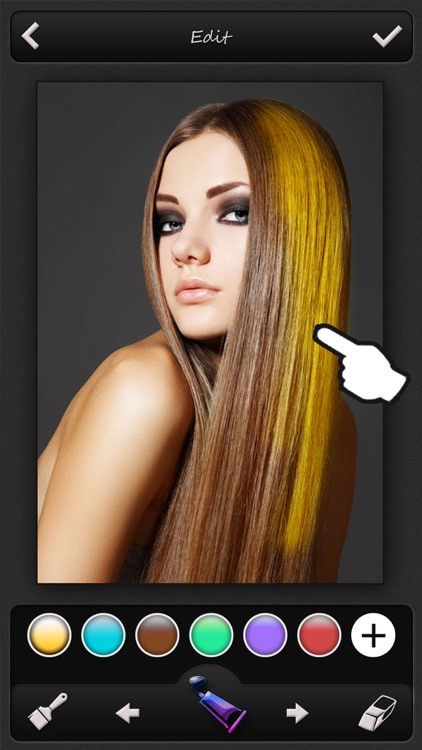 Hair Color Changer Pro - Recolor Booth to Dye, Change & Beautify Hairstyle screenshot-3