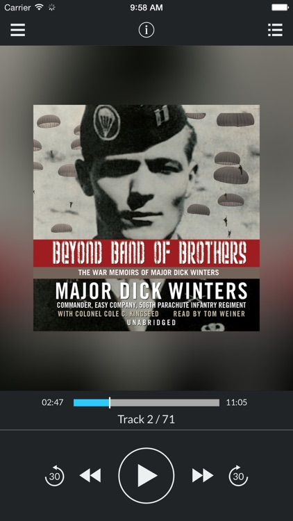 Beyond Band of Brothers: The War Memoirs of Major Dick Winters (by Major Dick Winters and Colonel Cole C. Kingseed) (UNABRIDGED AUDIOBOOK)