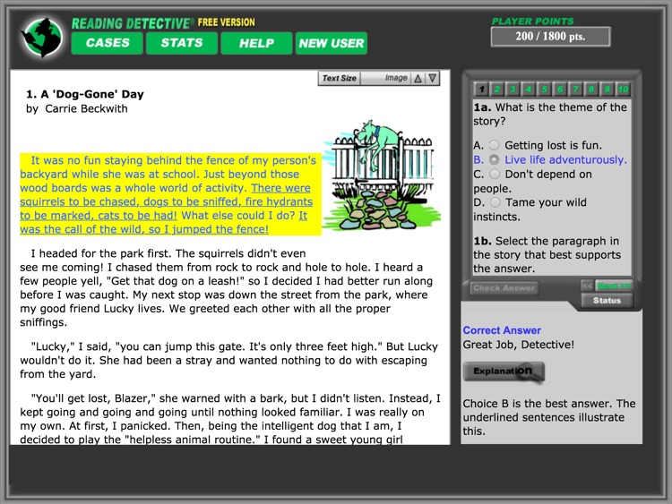 Reading Detective® A1 (Free) screenshot-3