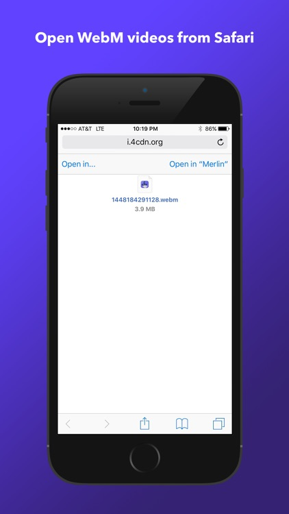 Merlin WebM Player & Browser for iPhone screenshot-0