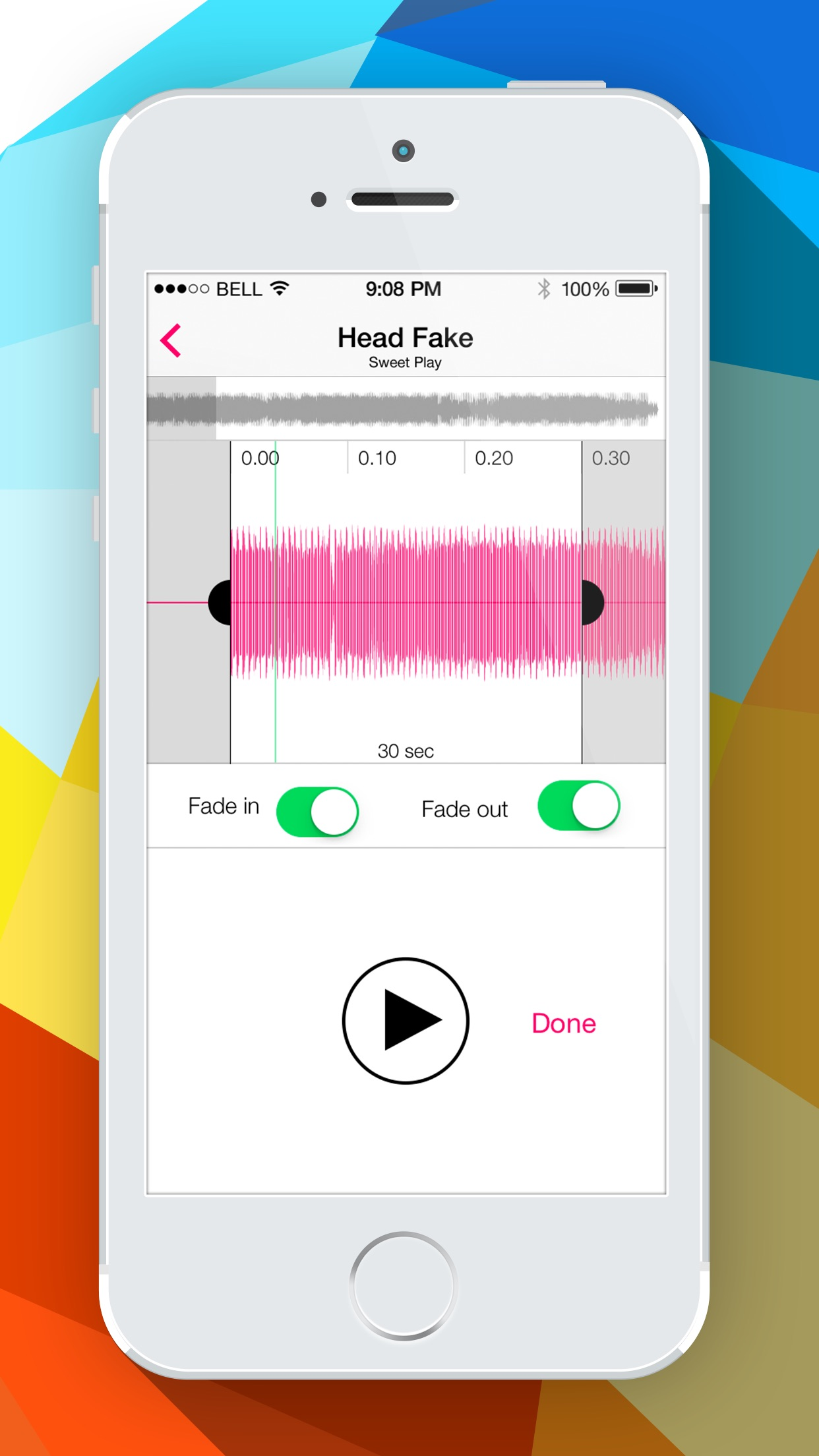 Screenshot do app Audiko Ringtones for iPhone PRO