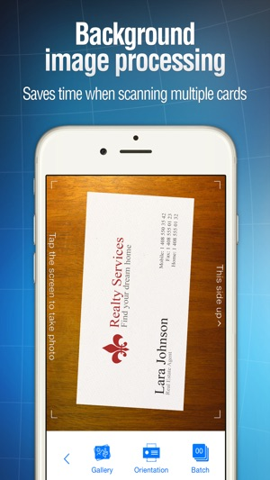 Business card reader on the app store reheart