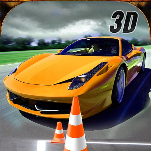 Real Extreme Racing Car Driving Simulator Free 3D iOS App
