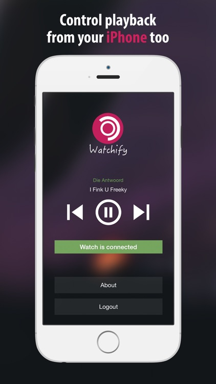 Watchify - for Spotify on Watch