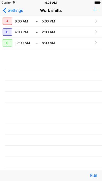 Work Shifts Calendar Lite screenshot three