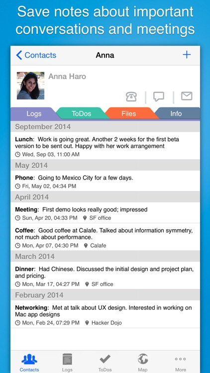 Contacts Journal CRM: Build Business Relationships screenshot-0