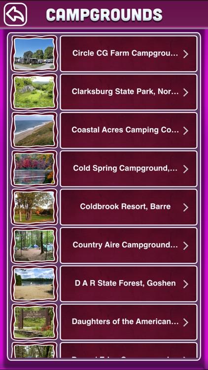 Massachusetts Campgrounds Offline Guide