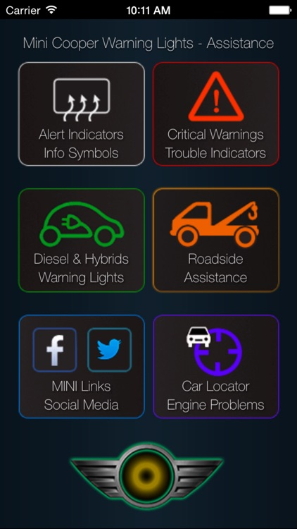 App for Mini Cooper warning lights and Mini Cooper problems screenshot-0