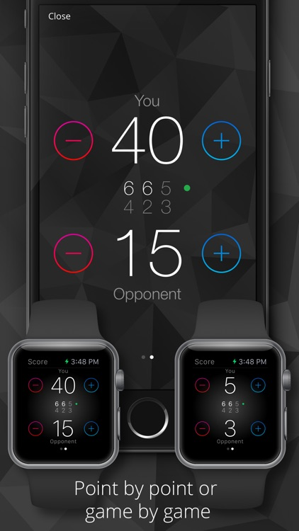 Tennis Watch - Tennis score tracker and statistics for Apple Watch and iPhone