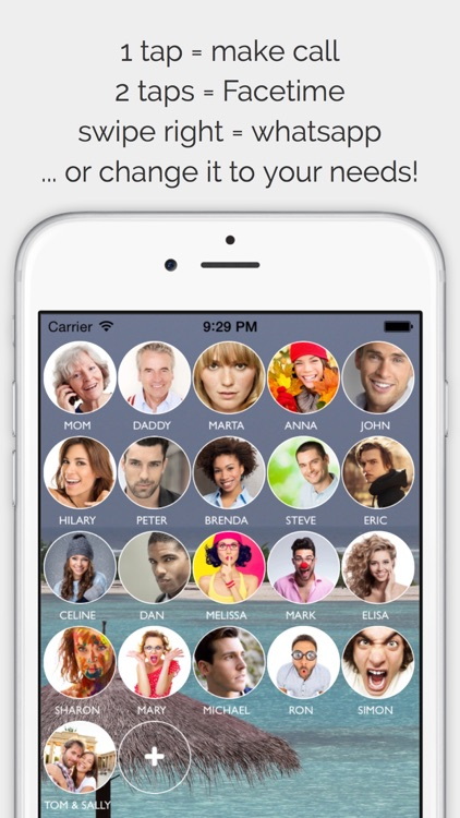 CallRight Free   -  call and text your favorite contacts with just one tap!
