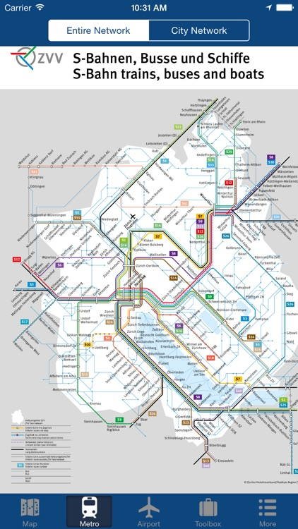 Zurich Offline Map - City Metro Airport