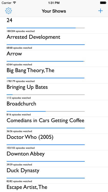 TVLog - Track the TV Shows You Watch