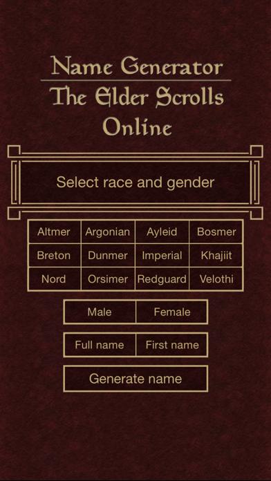 Name Generator for The Elder Scrolls Onlineのおすすめ画像1