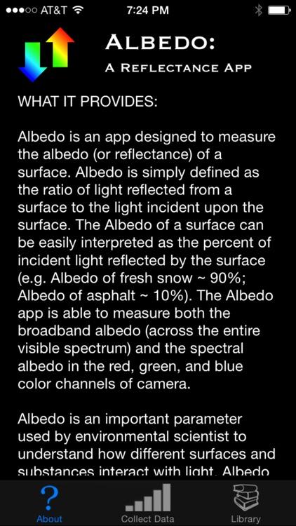 Albedo: A Reflectance App