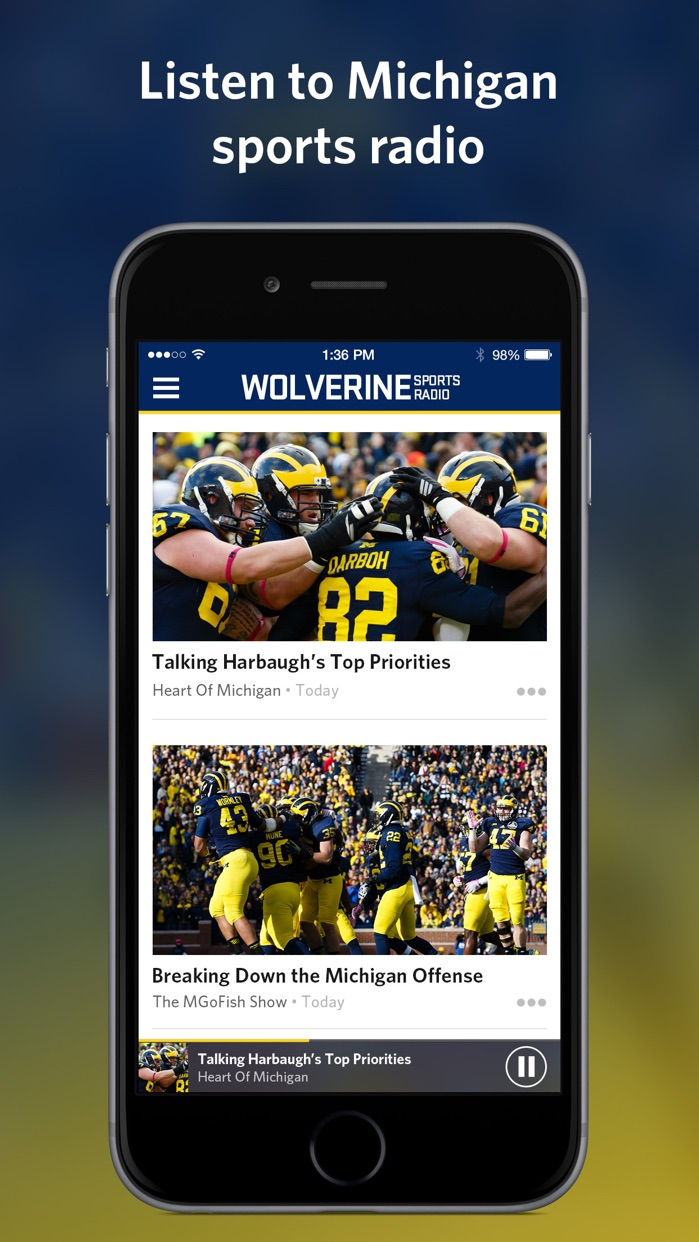 Wolverine Sports Radio Screenshot