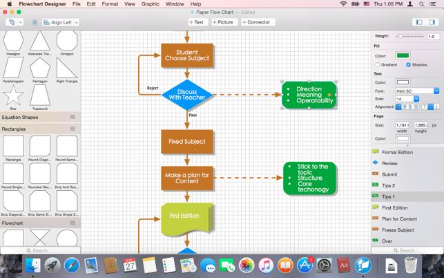 Flowchart designer on the mac app store screenshots ccuart Gallery