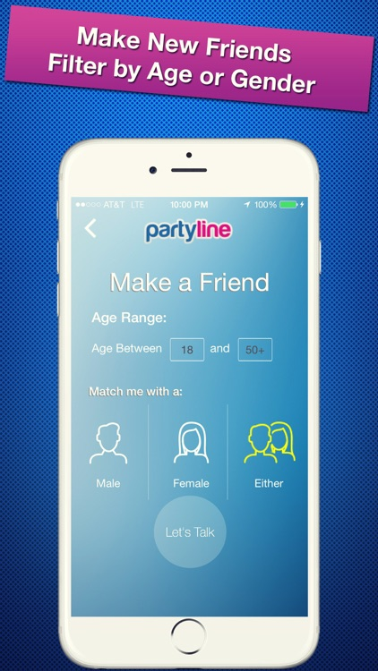 PartyLine Voice Chat, Meet Friends, New People screenshot-0