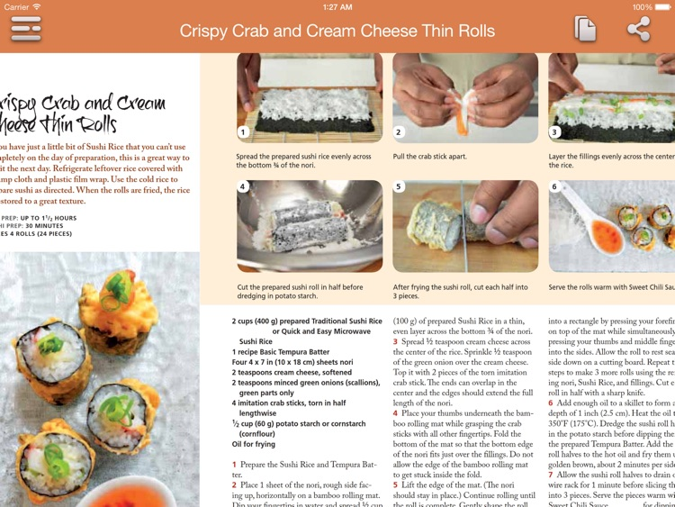 Sushi Recipes for iPad screenshot-3