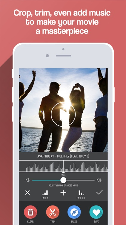Merge Video - Combine Videos & Mix Movie Clips with Music screenshot-3