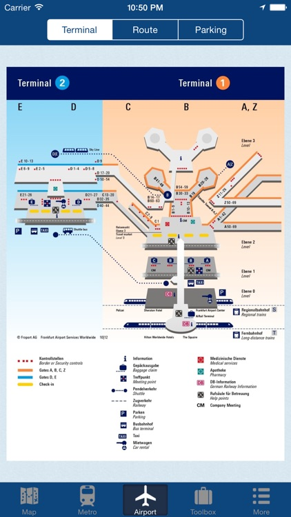 Frankfurt Offline Map - City Metro Airport
