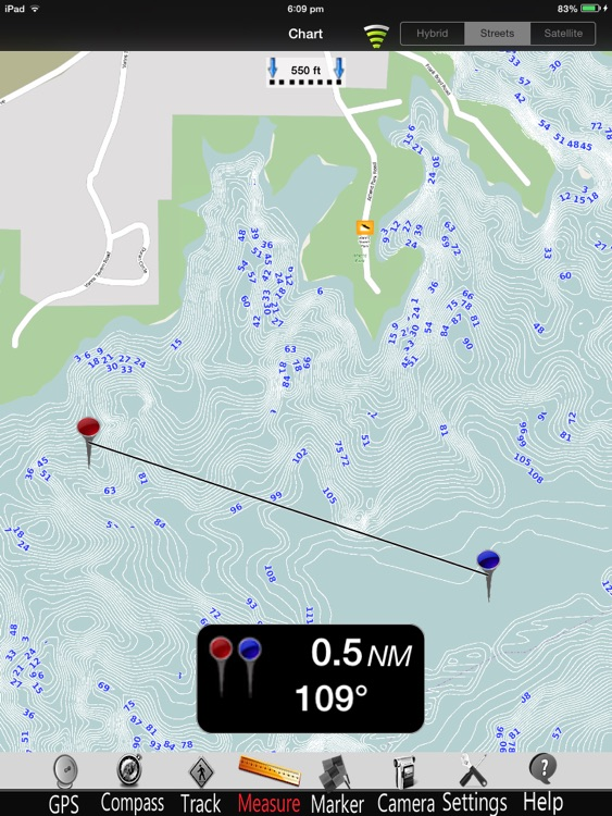 Lake Sidney Lanier Charts Pro screenshot-1