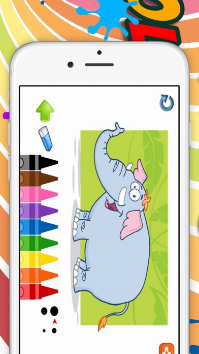Elephant Coloring book for Kid - Fun color & paint on drawing game for boys & girls Screenshot on iOS
