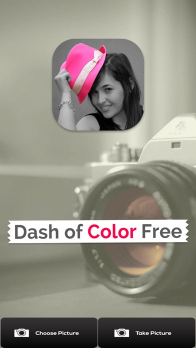 Dash of Color - Black & White, Colorful Photo Editor with Grayscale Effects Screenshot on iOS