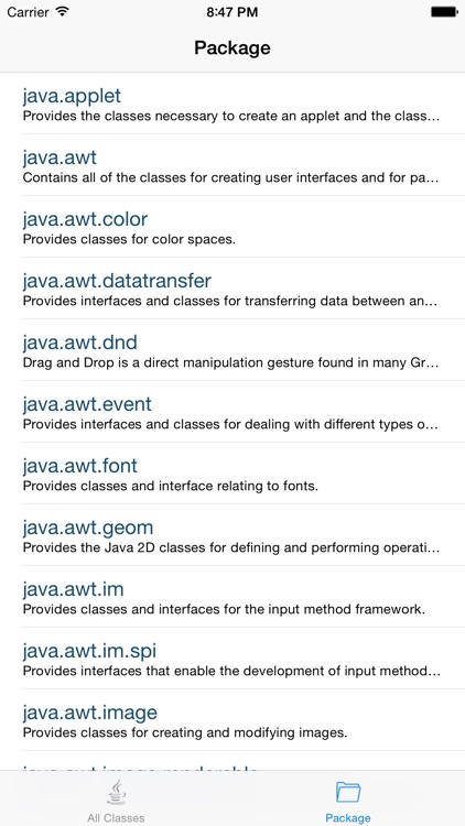 API for Java 8 version