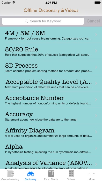 6 Sigma Guidance: Six Sigma Cheat Sheets with Glossary and Free Video Lessons screenshot-2