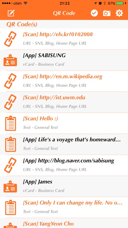 QR Code Scanner/Generator - Business Card/Text/URL(Link)