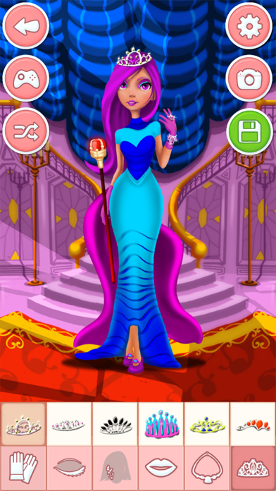 Princess dress-up games - girls make up salon