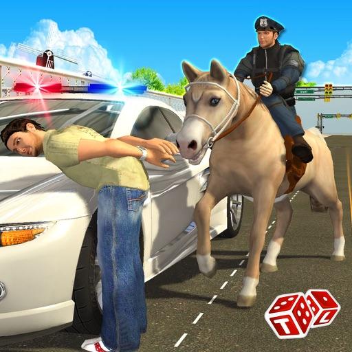Полиция лошади Чейз 3D - Шериф арестовать вора и & грабителей Управление Town Уровень преступности