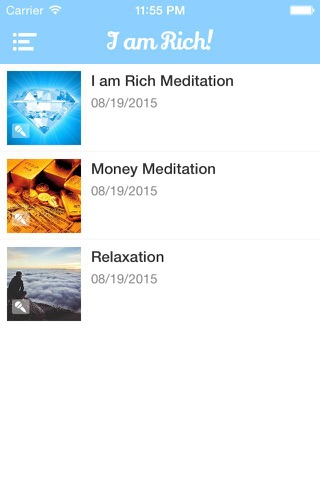 Screenshot of I am Rich! Positive Image Meditation and Affirmations