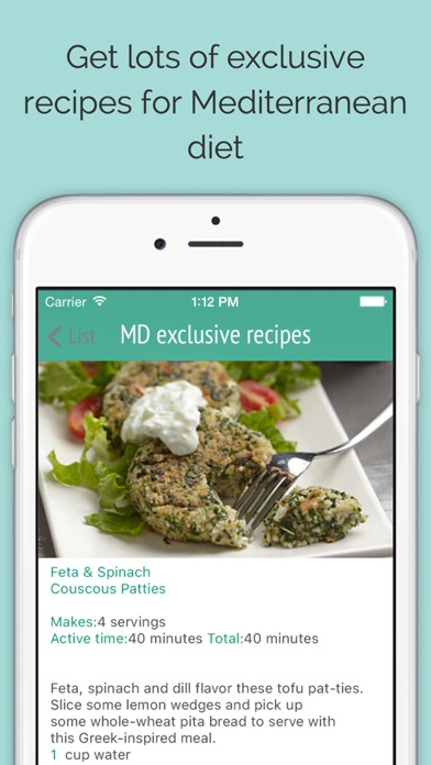 Mediterranean diet: recipes, meal plans and food listのおすすめ画像1