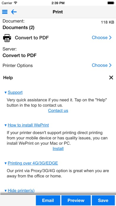 Screenshot #2 pour PrintDirect - PDF/Impression