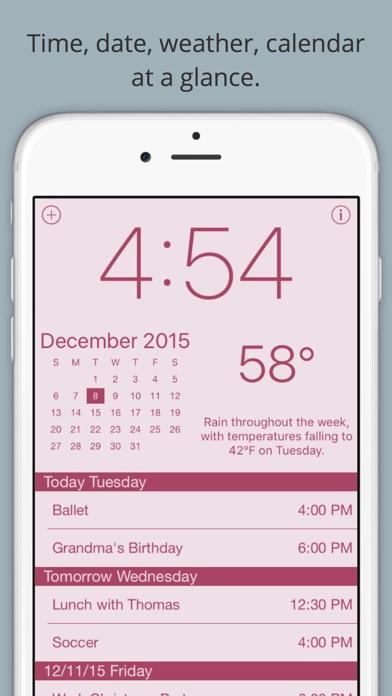 Screenshot for Work Time - Arbejdstid - Elegant desk top ur med kalender og vejr in Denmark App Store