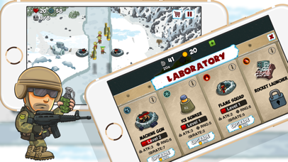 Arctic Defences - Defend Your Island And Beach From The Zombie Dictator Screenshot on iOS